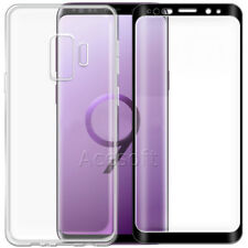 Tempered Glass Screen Protector Soft TPU Case f Samsung Galaxy S9+ G965 T-Mobile