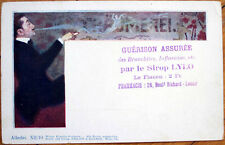1902 Pharmacy Ad, Alexander Pock/Artist-Signed Postcard - Art Nouveau, Smoking