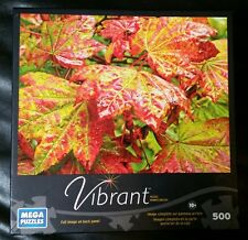 "Mega Puzzles 2013 Vibrant ""Maple Leaves"" Jigsaw Puzzle-500 Pieces-NEW & Sealed"