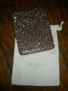 "Jimmy Choo Glitter iPad Sleeve Leather EUC W/LOGO STORAGE BAG EUC ""RARE"""