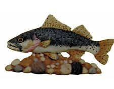 Fish on Rocks Ceramic Bisque Ready To Paint