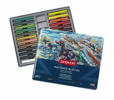 Derwent Inktense Blocks 24 Tin Set of Professional Water-Soluble Colour Sticks
