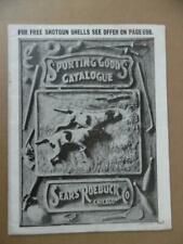 c.1907 Sears Roebuck Sporting Goods Catalog Guns Hunting Fishing Cutlery Antique