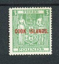 Cook Islands KGVI 1943-50 £3 green wmk inv SG135w MNH