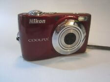 Nikon COOLPIX L24 14.0MP Camera (Red) TESTED, FOR PARTS OR REPAIR DOES WORK