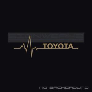 Toyota Heart Beat Pulse Decal Left Camry Yaris vvti TRD Racing FR-S XLE V6 Pair