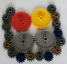 Lot of 20 Knex Gears 16 Sm 4 Md Replacement Parts Pieces K'nex Gray Red Yellow