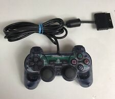PS2 Playstation 2 Official Dualshock 2 Controller Blue Grey Transparent Clear