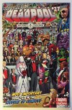 Deadpool #27A. The Wedding. Marvel 2014. VF/NM condition.