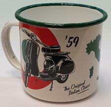 Nostalgic Art Emaille Becher Vespa Italian Classic Kaffeebecher Nostalgie Tasse