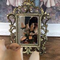 Antique Brass Mirror Standing Ornate Mirror Art Nouveau Frame