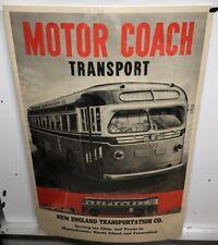 Original vintage Travel Poster Motor Coach New Haven Railroad