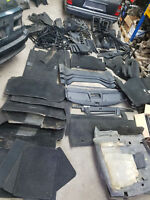 Mercedes w124 T Innenausstattung schwarz Verkleidungen Teppich Säulen Abdeckung