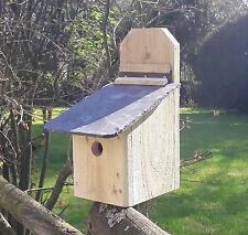 Caja de nido con Lift-up techo pizarra natural de fácil limpieza para pequeñas aves silvestres