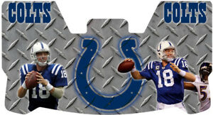 Custom Indianapolis Colts Peyton Manning Football Helmet Visor W Unbranded Clips