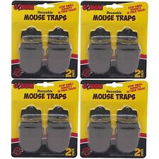 8 x Reusable Professional Reusable Mouse Traps Pest Small Rodent Spring Loaded