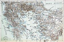 GRÈCE - CARTE 2e GUERRE de MACÉDOINE (ANTIOCHUS & les GALATES) - Gravure du 19e