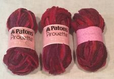Patons Pirouette Yarn Deep Wine Shimmer 83431 ~ 3 skeins 85g 3oz ~ Ruffle Scarf