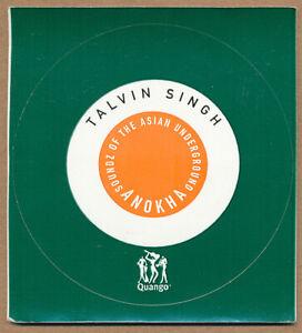 Talvin Singh Anokha Soundz of the Asian Underground RARE promo sticker 2004