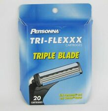 Tri-Flexxx Triple Blade Cartridges 20 Cartridges Fits Personna and Sensor Razors