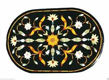 "15""x30""  Home Decor Marble Table Top Inlay Handmade Pietra Dura Work"