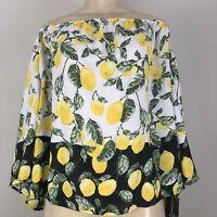Inc International Concepts Lucky Lemon Yellow Off-The-Shoulder Top Size L NWT