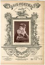 Lemercier, Paris-Portrait, Mlle Janvier, chanteuse Vintage albumen Print Tirag