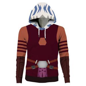 Star Wars: The Clone Ahsoka Tano Wars Hoodie Hooded Sweatshirt Cosplay Coat