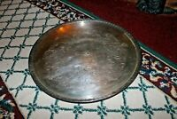 Vintage Wilcox Silver Plated Circular Serving Tray Celtic Border N7063