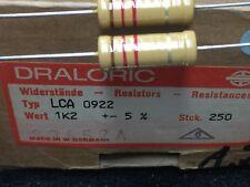 1x Draloric Charbon couche Résistance 1k2 ohm ACV 0922 vintage Audio 300b tube amp