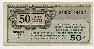 SERIES 461 50 CENT MILITARY US CURRENCY ISSUED 1946-1947 CHEAP L@@K