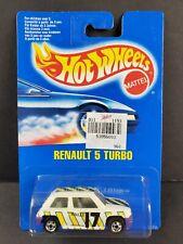 1992 Hot Wheels Canada Blue Card Renault 5 Turbo White #17 BW International NEW