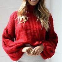 Women's Long Oversized Sleeve Loose Knitted Sweater Jumper Cardigan Coat Outwear