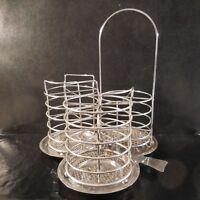 Escurridor Cubiertos Mesa Utensilios Cocina 3 Cestas de Metal Inoxidable Diseño