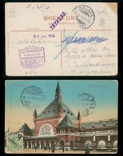Mayfairstamps Denmark 1914 Copehagen to Turkey Postcard With Galata Arrival wwg1