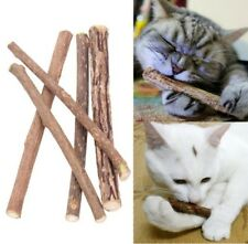 2x Cat Cleaning Teeth Pure Natural Catnip Pet Molar Toothpaste Stick Silvervine