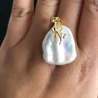 Baroque Pearl Pendant Freshwater Pearls For Women Engagement Art Deco Aesthetic