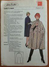 Silver Needles 21 Sewing pattern Ladies cape cloak cut size 18