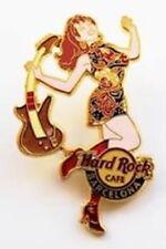 Hard Rock Cafe BARCELONA 2008 Sexy EURO GO-GO Girl Series PIN Guitar HRC #46079