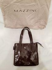 Beautiful Authentic Mazzini Small Patent Leather Denim Expandable Handbag Bag...