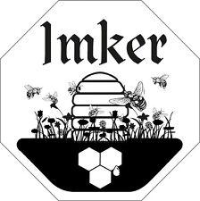 Aufkleber Applikation Sticker 9 x 9 cm Biene Wabe Imker 307160-2