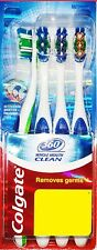 Colgate 360 Whole Mouth clean toothbrush Medium - 4 pc PACK | Clean Teeth tongue