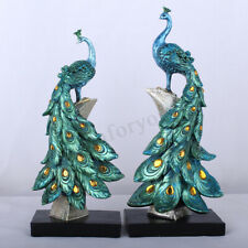 Exotic Peacock Resin Decor Ornament Figurine Statue Sculpture Home Decorations