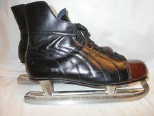 Excellent Vintage Biltrite Special Men's Black Leather Ice Hockey Skates Size 10
