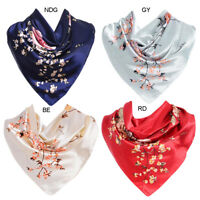 Women Ladies Chinese Roses Large Square Scarves Large Scarf Neck Wrap US