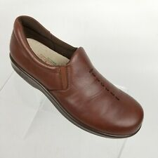 SAS Viva Womens Slip On Loafer Brown Leather TriPad Comfort Shoes Sz 7 S