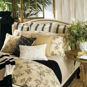 NEW Ralph Lauren 4 PC SHEET SET PLAGE D'OR FLORAL 2 Cases Champagne Brown  KING