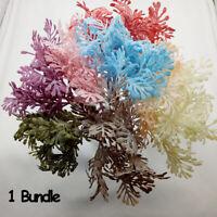 6PCS/Bundle Artificial Fern Fake Plant Leaf Leave Foliage Home Decor Green Grass