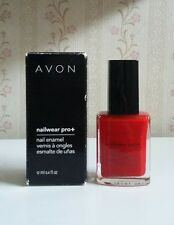 AVON Nailwear Pro+ Nail Polish Real Red NIB! Free Shipping!