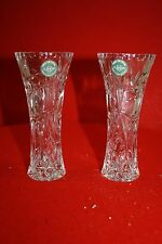 2 Lenox Fine Crystal Vase - Made in Czech Republic- 6 inch tall